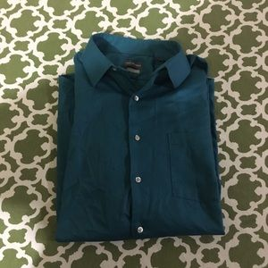 Van Heiden dress shirt in peacock blue